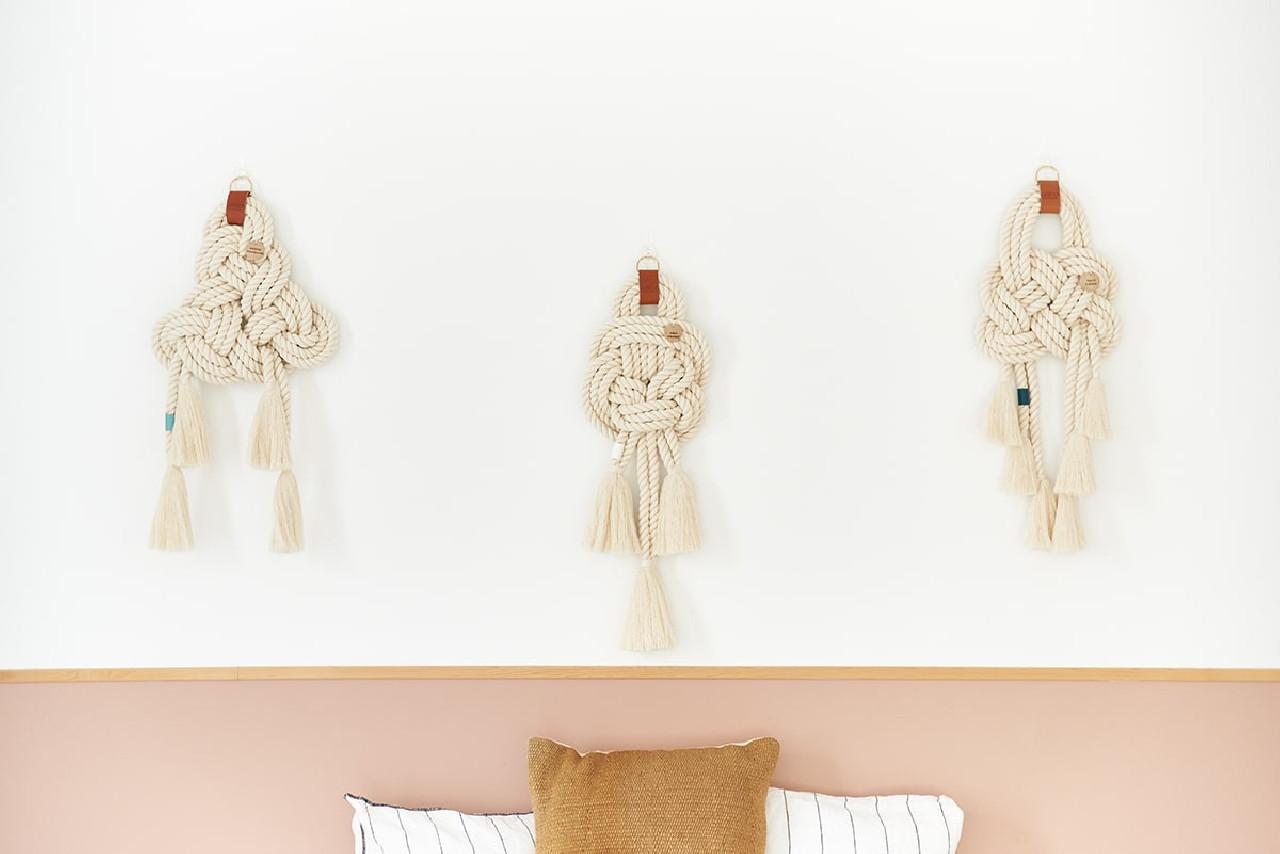 Nœud Marin décoratif tressé à la main en coton bio | Ocean Clock