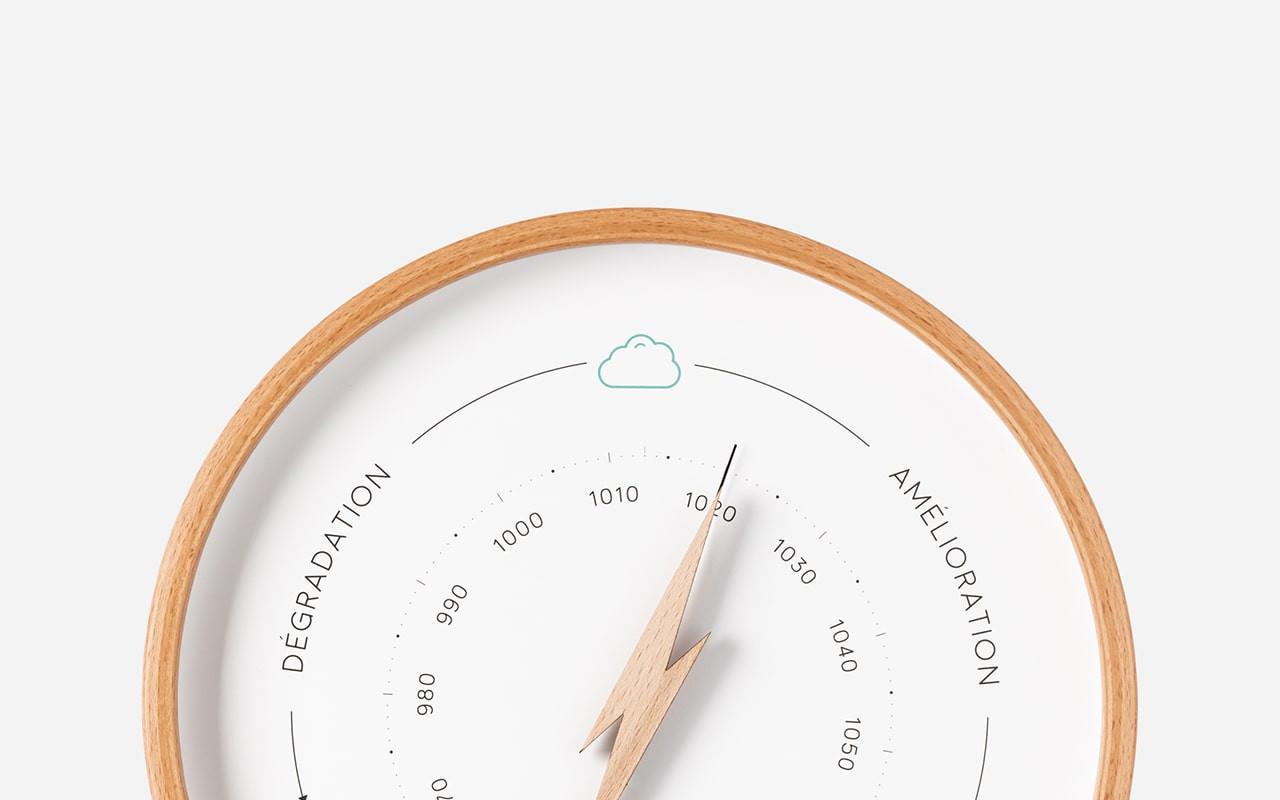 Baromètres en bois à aiguille : design & moderne | Ocean Clock