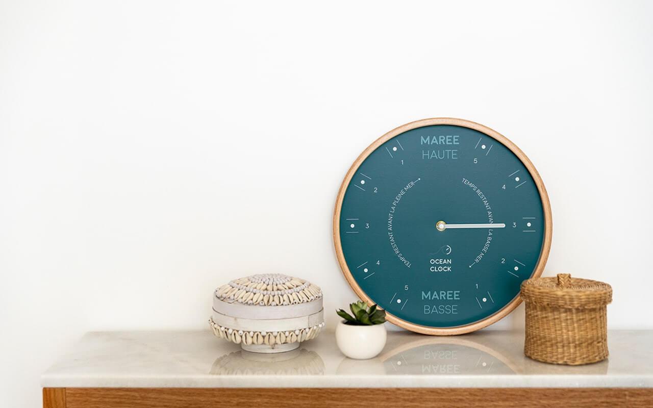 Vente d'horloges de marée design en bois | Ocean Clock