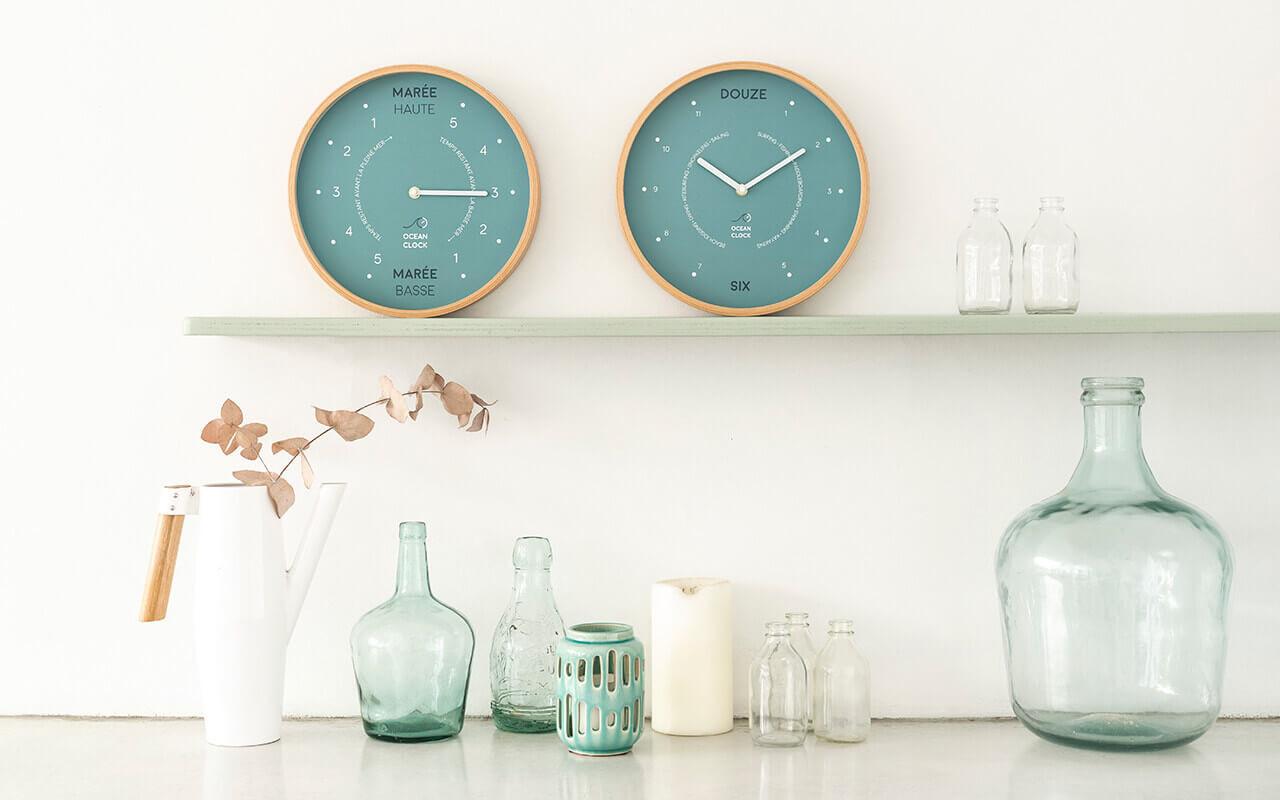 Vente d'horloge design & originale en bois | Ocean Clock